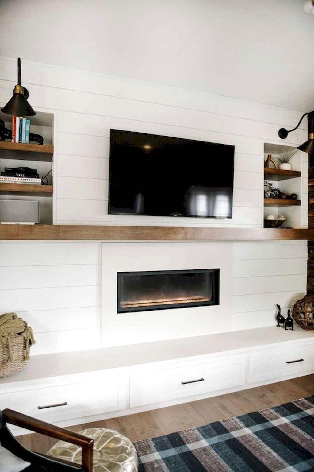 33 Stunning Modern Fireplace Design Ideas With Tv Above In 2020