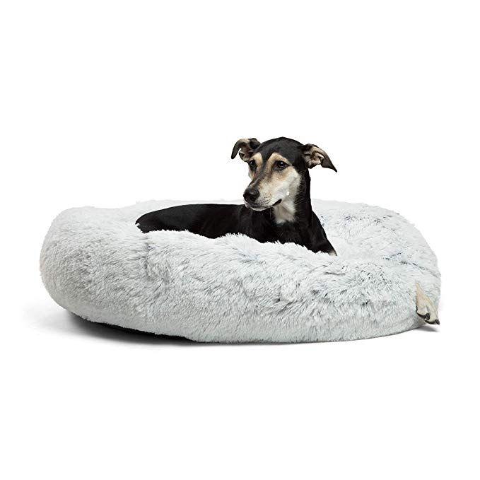 Amazon Com Best Friends By Sheri Calming Shag Vegan Fur Donut Cuddler 36x36 Zippered Large Round Donut Cat And Dog Cool Dog Beds Dog Bed Luxury Cat Bed