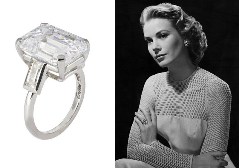 The Replica Of Grace De Monaco S Engagement Ring Represents The 10 47 C Grace Kelly Engagement Ring Cartier Engagement Ring Princess Expensive Engagement Rings