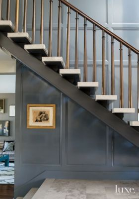 A #contemporary Beverly Hills home's #entry #staircase. | See MORE at www.luxesource.com. | #luxemag #interiordesign #design #interiors #homedecor