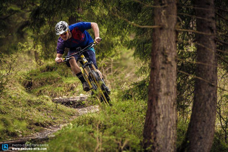 Das E-Bike: Im Uphill der eindeutige Sieger, bergab sieht es ab 25 km/h anders aus