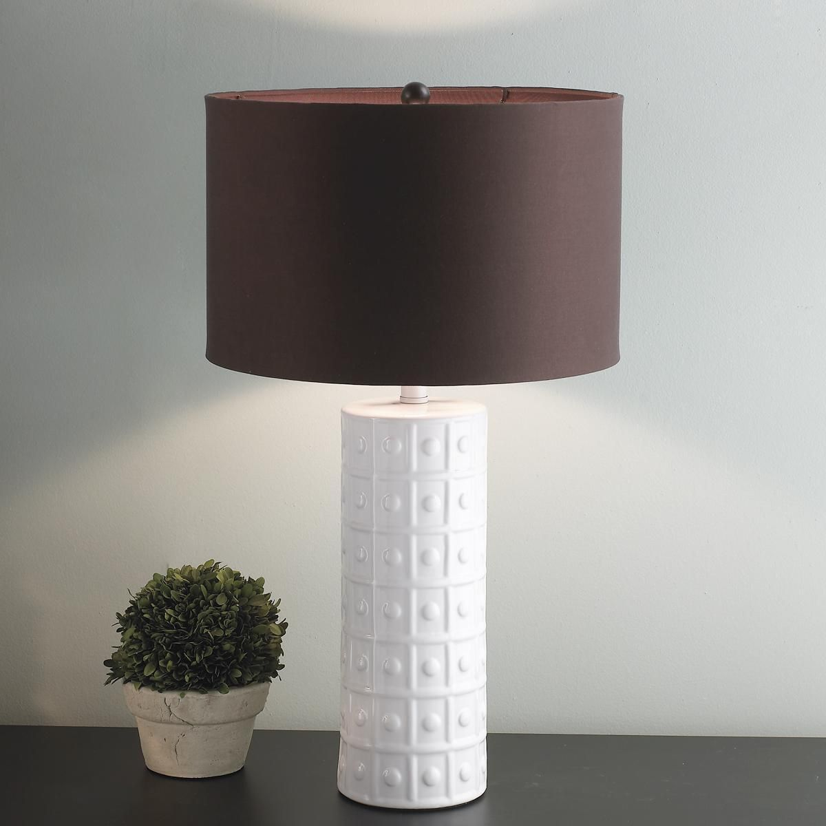 Studded Ceramic Table Lamp Chocolate Brown Shade Need To Find Less Expensive 519 Ea