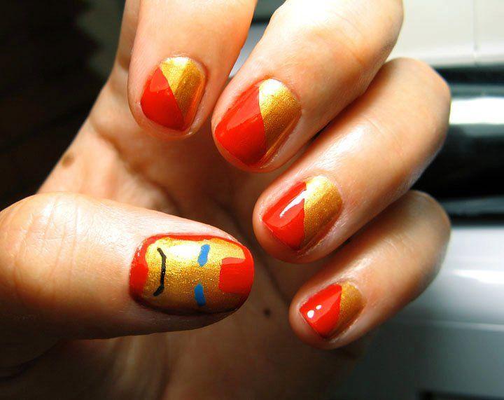 Iron Man Nails | nails | Pinterest | Iron man nails, Short nails and ...