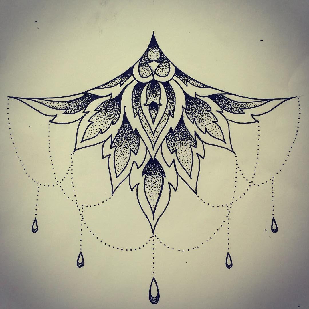 #mandala #sternum #stippling #dotwork #freehand #tattoodesign #tattooart #drawings #blacktattoos #design #tits #likeforlike #like #like4like #robinstattoo