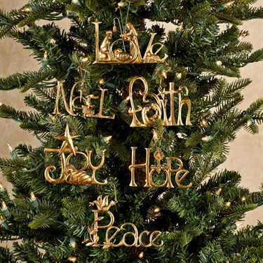 christmas 6 pc word ornaments set by roman 2014 holiday christmas