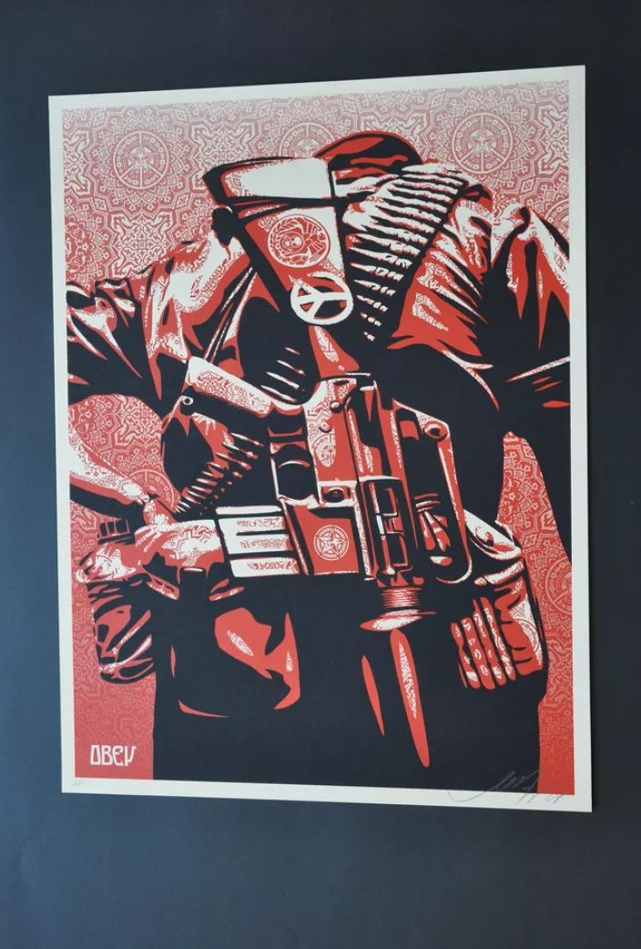 SHEPARD FAIREY - DUALITY OF HUMANITY 1 - 5 - ART IS JUST A FOUR LETTER WORD http://www.widewalls.ch/artwork/shepard-fairey/duality-of-humanity-1-5/ #print