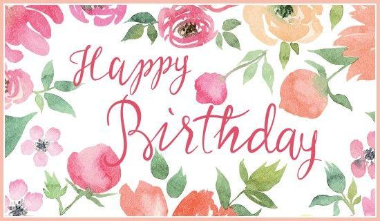Happy Birthday Floral Greetings Ecard Facebook