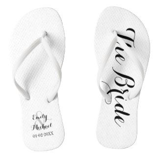 239a881b830f6 Beach Wedding Bride Flip Flops | Zazzle.co.uk | Beach Weddings ...