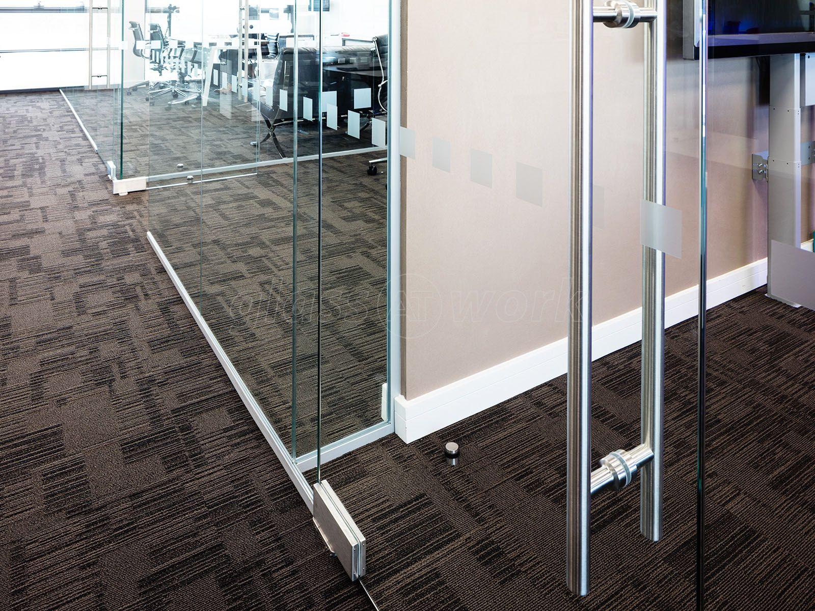 Single Glazed Frameless Glass Office Partitioning Glass
