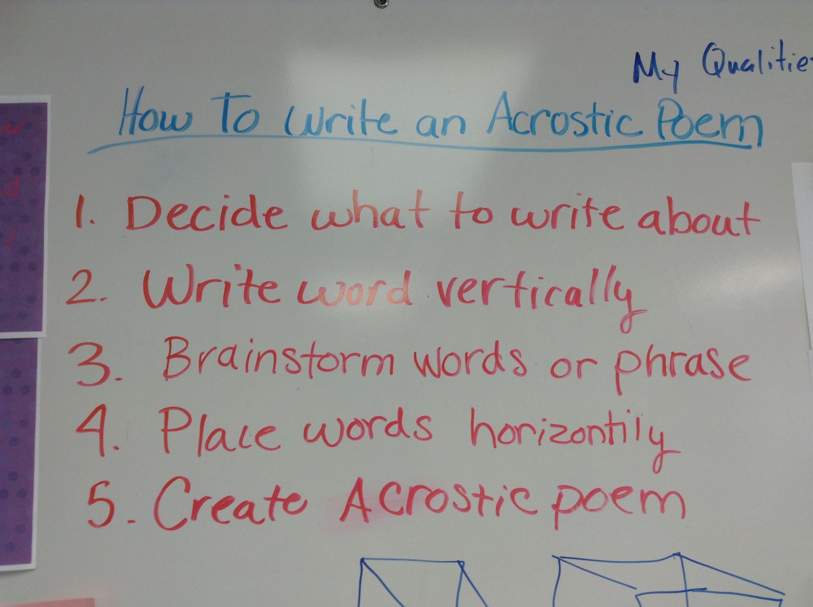 Acrostic Poem Generator