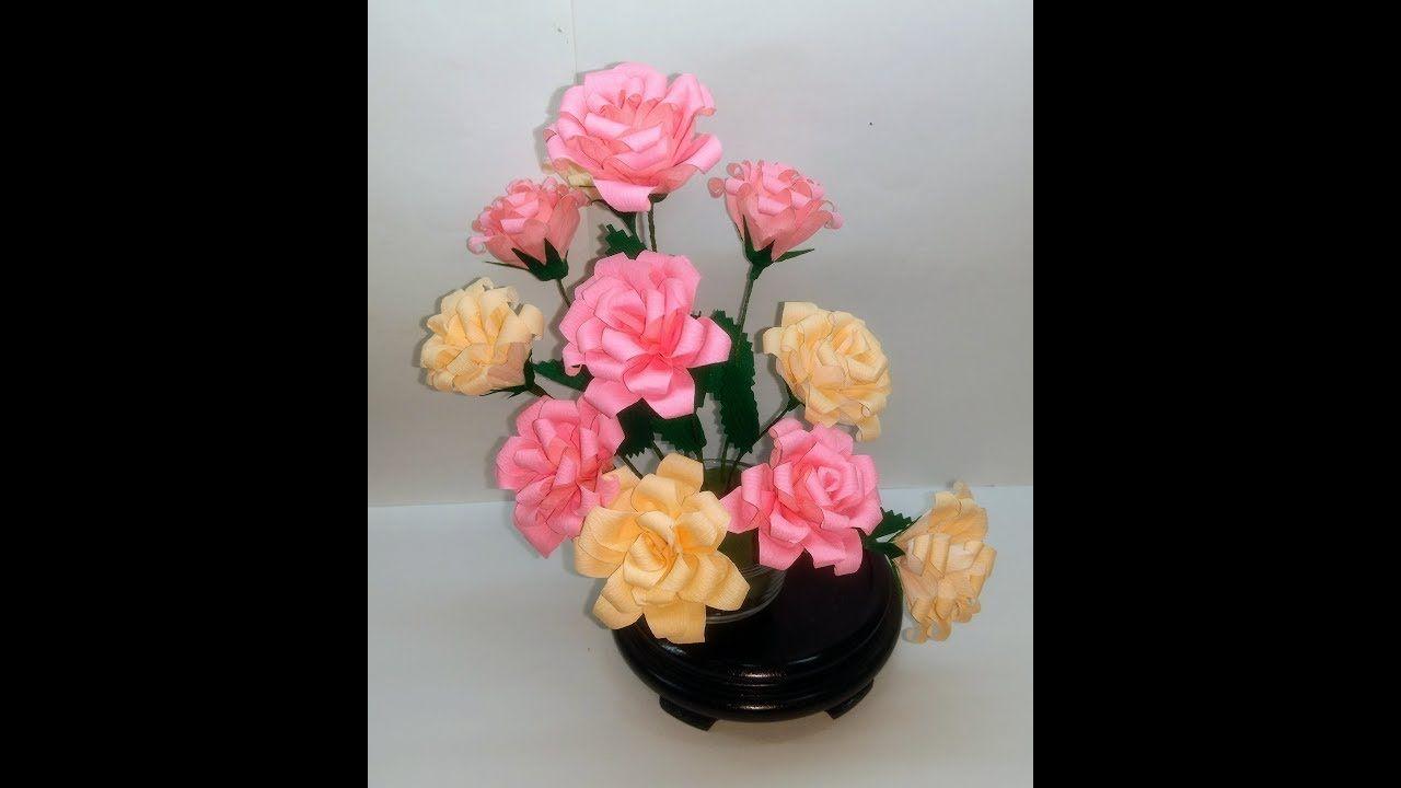 How to make simple crepe paper flowers mini roses flower 221 how to make simple crepe paper flowers mini roses flower 221 mightylinksfo