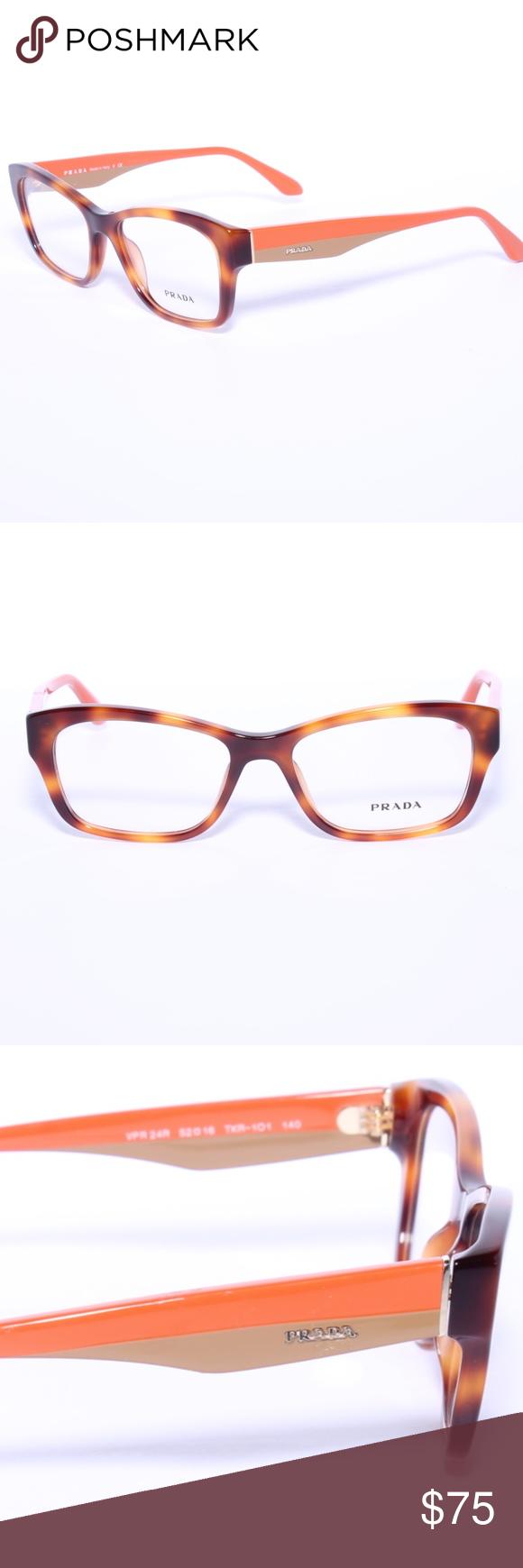 dc4d1f2356f Prada VPR 24R TKR-1O1 Havana Orange Beige New Eyeg. HavanaEyeglassesPrada BeigePouchesOrangeGlassesTaupeEye Glasses