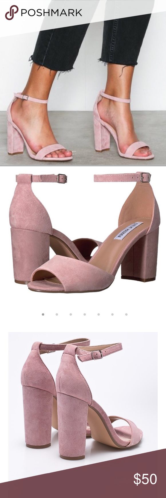 9bc49825176 Steve Madden Mirna block heel sandal in pink blush Steve Madden Mirna block  heel sandal in pink blush. Worn once to a wedding for a few hours but still  in ...