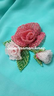 Sulaman Manik Maz Brooch Rose Sulaman