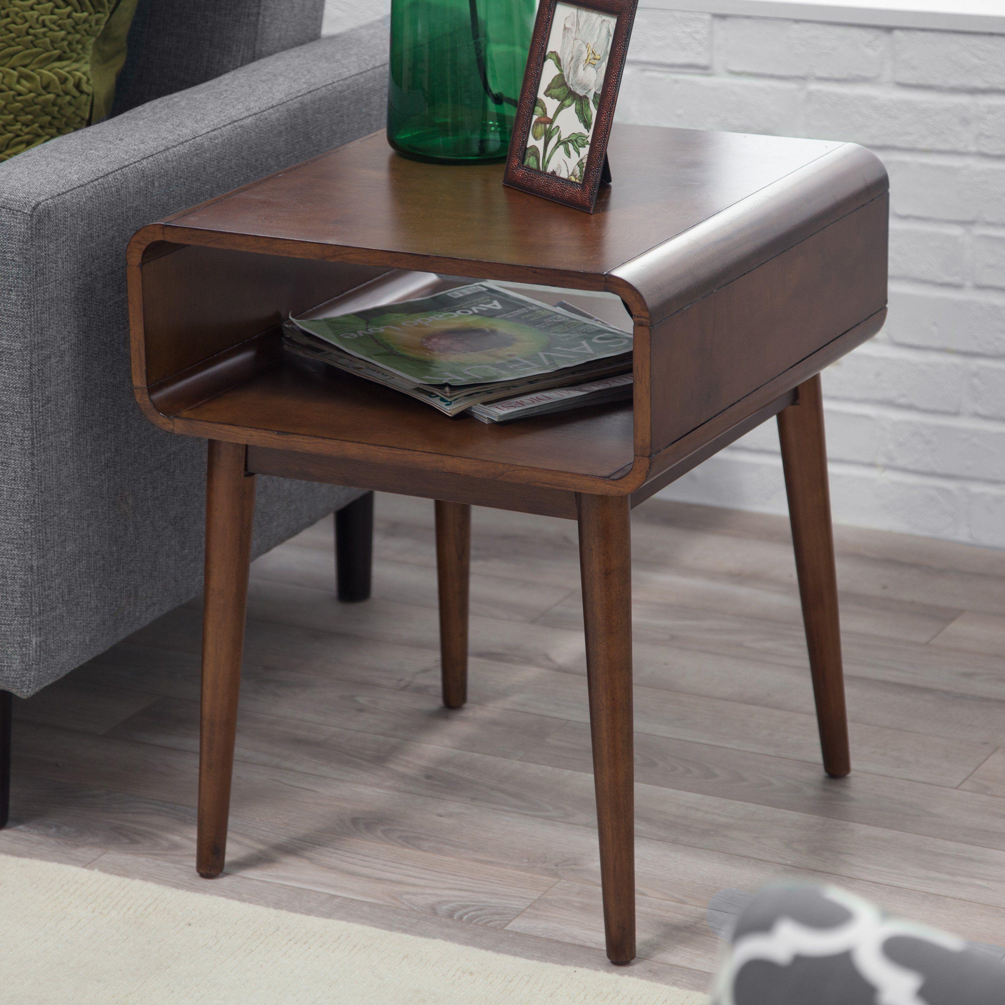 Best Belham Living Carter Mid Century Modern Side Table The 400 x 300