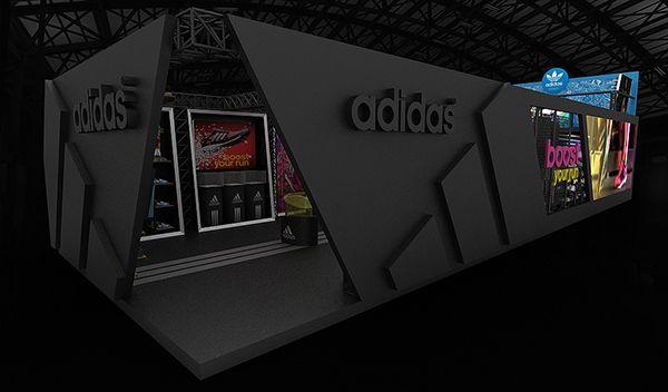 Exhibition Booth Behance : Adidas exhibition booth on behance alınacak Şeyler