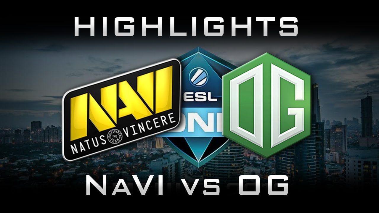 NaVi vs OG ESL One Frankfurt 2016 Highlights Dota 2