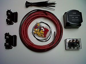 dual auxiliary leisure battery fitting wiring kit system campervan rh pinterest com