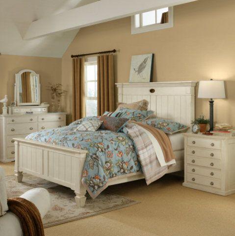 Linden Street Antique Vanilla Bedroom White Bedroom Furniture New Room Furniture
