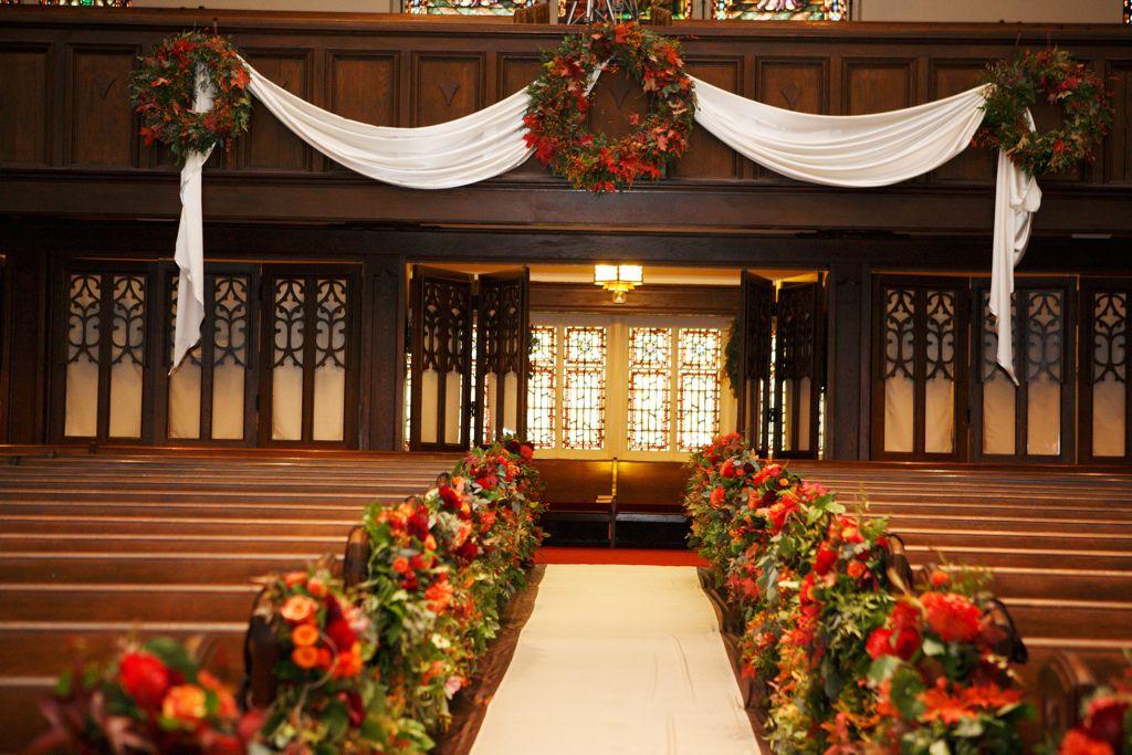 Country Club Christian Church Aisle Arrangements