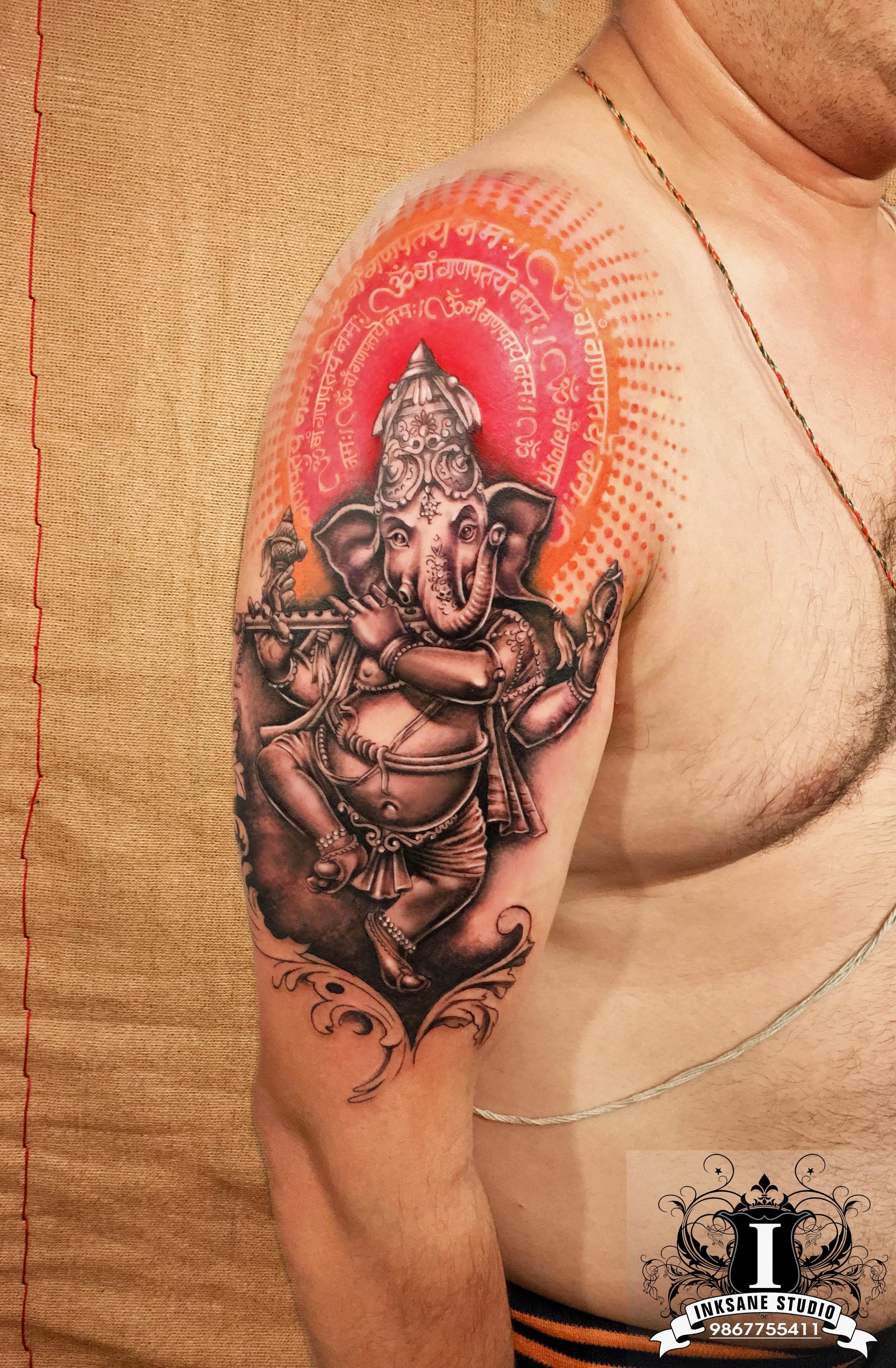 11 ganesha tattoo designs ideas and samples -  Ganesha Lordganesh Ganapati Ornamental Religious Hindugod God Tattoo