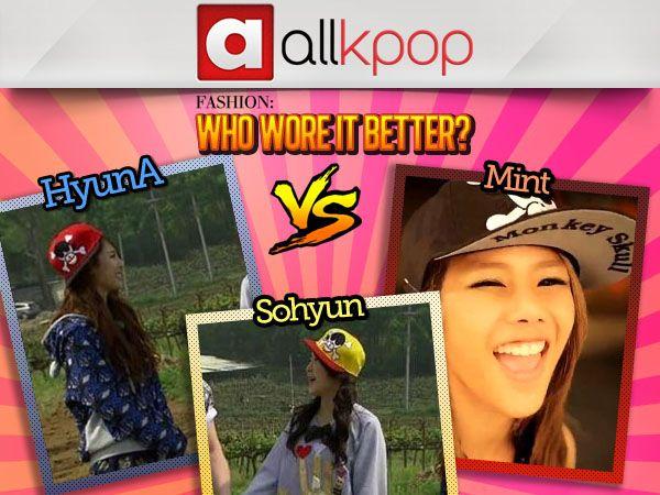 Who Wore it Best: HyunA vs. Sohyun vs. Mint