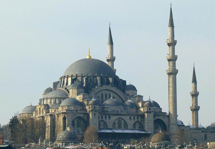 B - Süleymaniye Mosque,Istanbul. 1551 - 1557. Arch: MİMAR SİNAN
