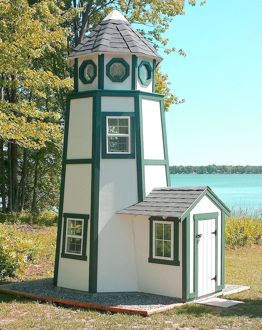 Chesapeake Lighthouse Plan Play Houses Tiny House Plans Backyard Playhouse