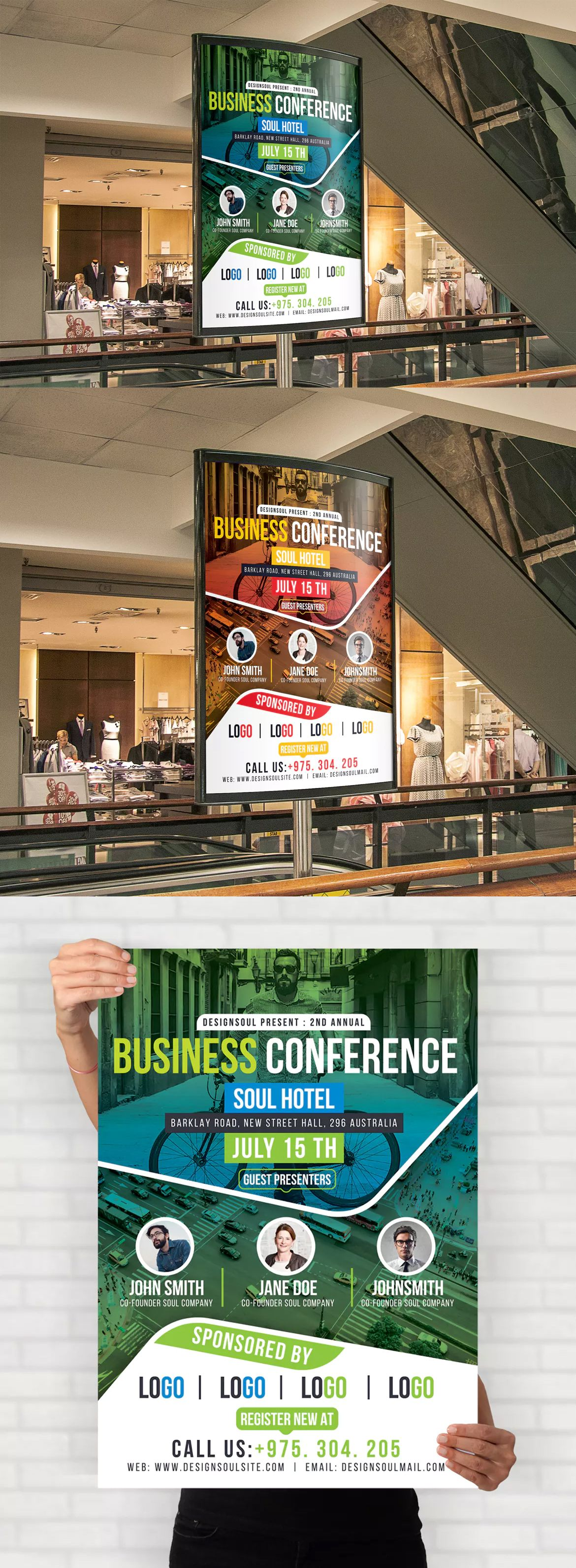 Business Conference Poster Template PSD | Poster Templates