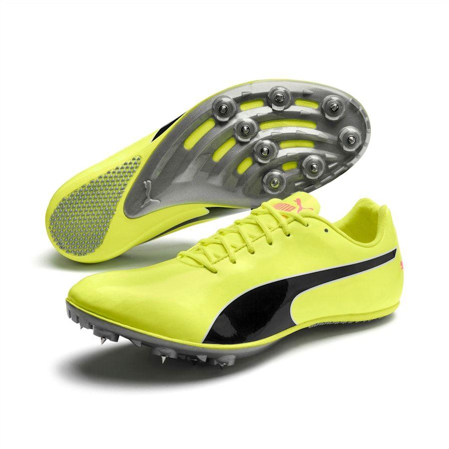 PUMA Chaussure d'athlétisme evoSPEED Sprint 10, JauneNoir