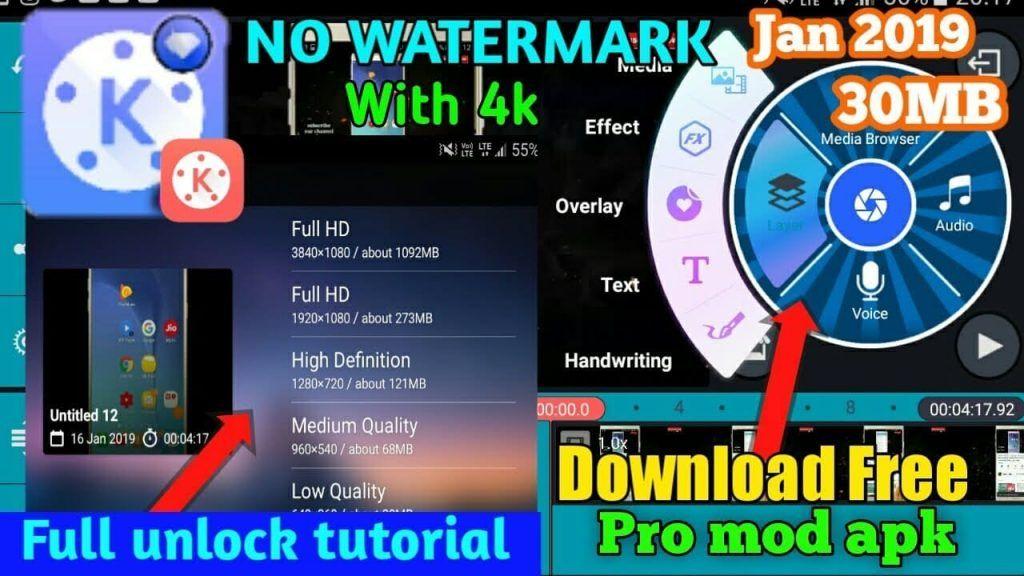 Kinemaster Pro Apk No Watermark Video Editing Application Video