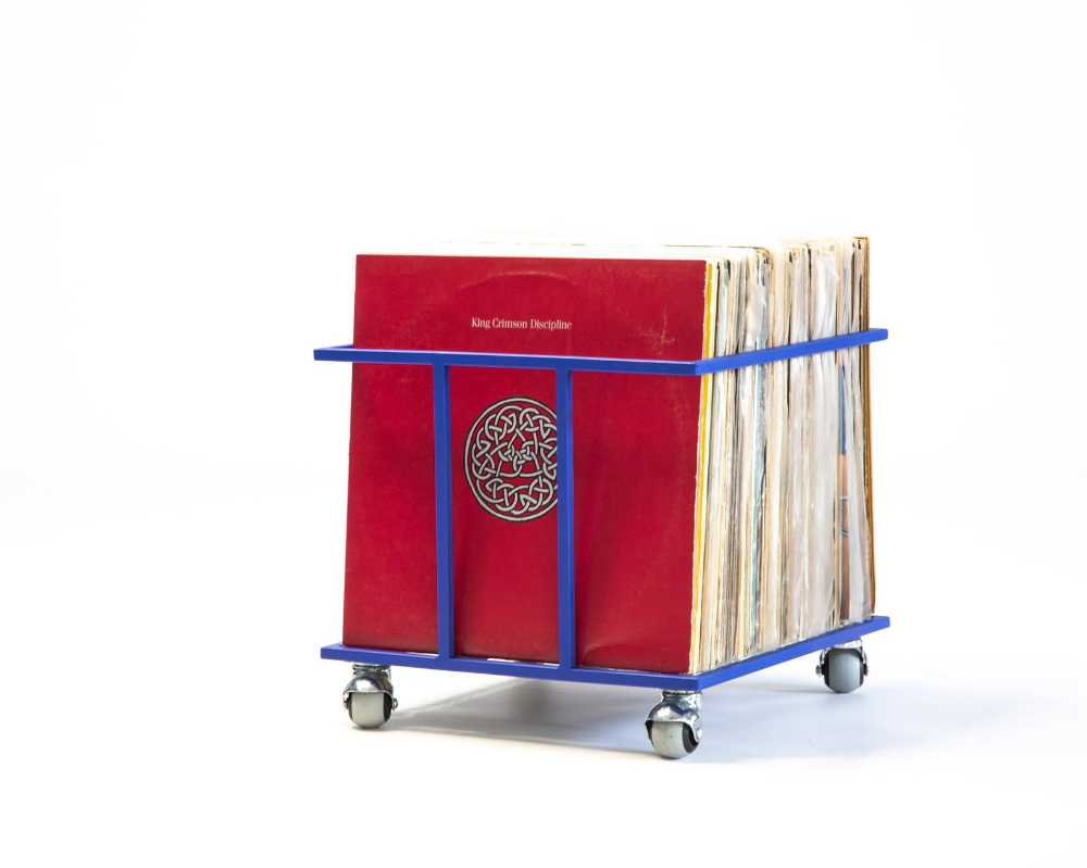 Lp Storage Record Crate Record Box On Rotating Wheels Etsy Record Crate Lp Storage Record Boxes