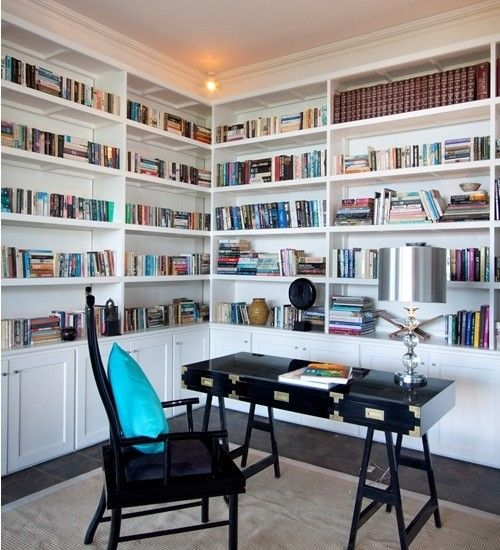 20 Home Office Bookshelves Designs Ideas: Tropical Home Office Design, Pictures, Remodel, Decor And