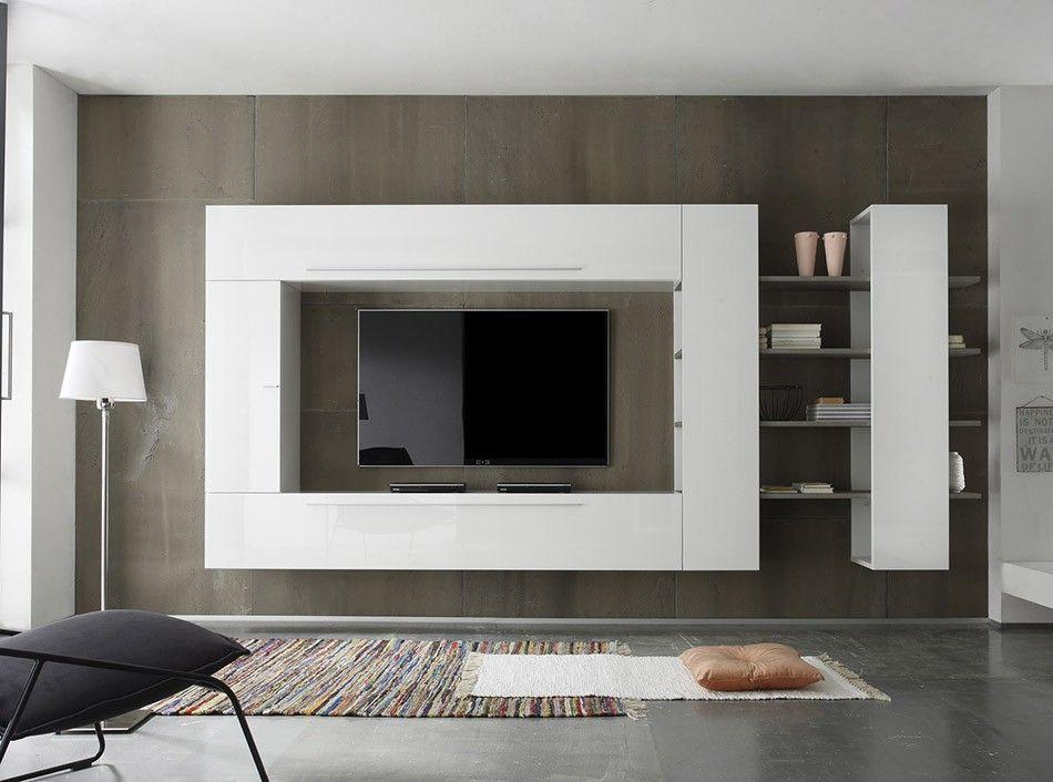 modern wall - Meuble Tv Design Ibiza A Led