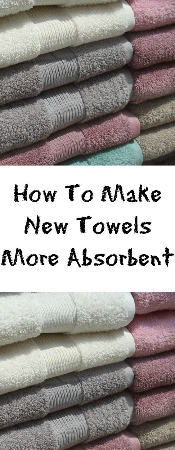 How To Make New Towels More Absorbent