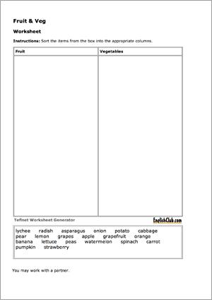 Sorting Worksheet Generator (2 columns)   free worksheet maker ...