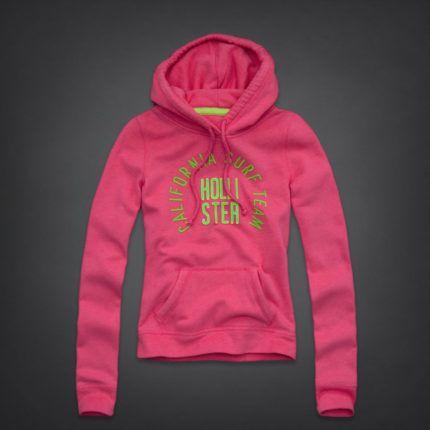 blusas de moletom feminina Hollister rosa com verde   ☆hollister ... 707a5695e9