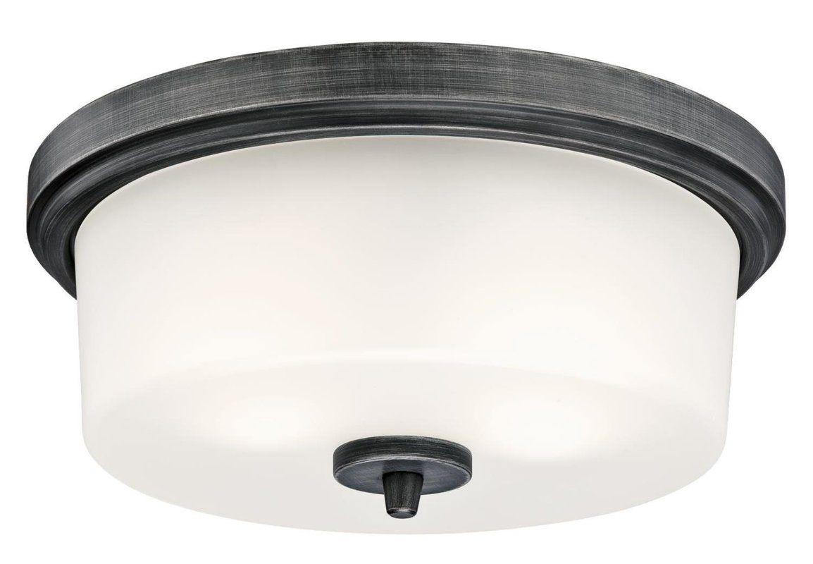 "Colerane 2 - Light 12.99"" Simple Drum Flush Mount   Flush ..."
