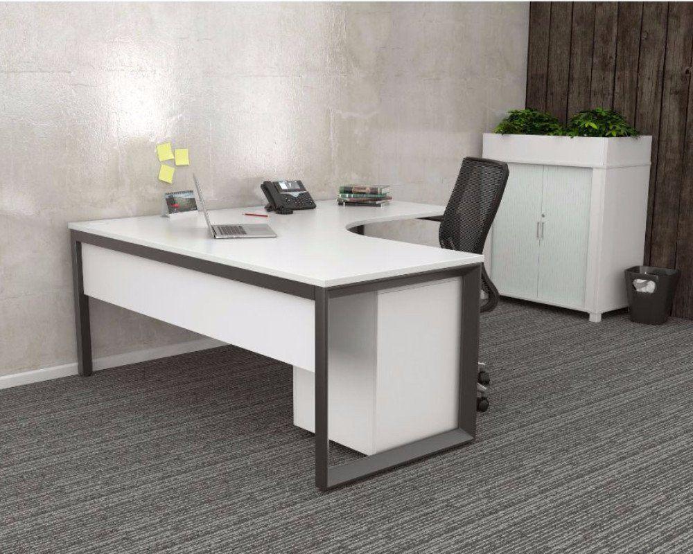 Olg anvil degree workstation black frame contemporary desks