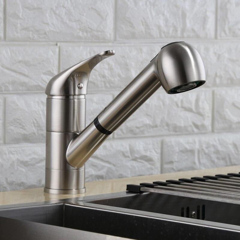 8002 001 Single Handle Kitchen Faucet Brushed Nickel Kitchen