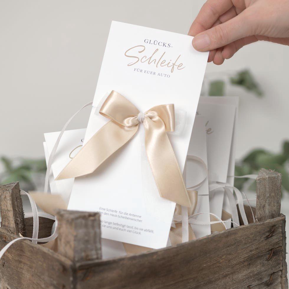 Autoschleifen Glucks Karten Diy Schablone Karte Hochzeit Autoschleifen Hochzeitseinladungen Basteln