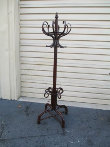52670 Antique Victorian Coat Tree Hatrack Stand For The