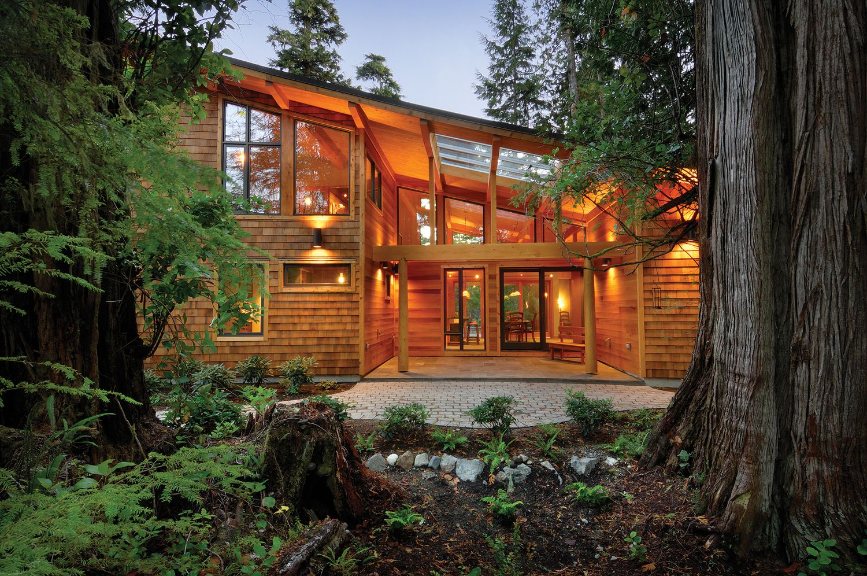 West Coast Style Modern Cedar Timber Cottage On Vancouver Island Idesignarch Interior Design Architecture Interior Decorating Emagazine Architecture Timber Architecture Modern Style House Plans