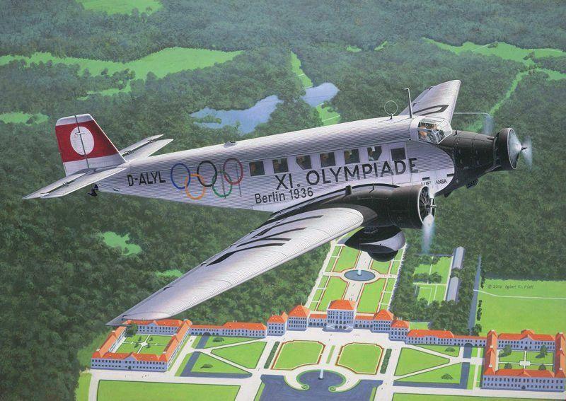 Junkers Berlin junkers ju 52 3m lufthansa 39 olympiade berlin 1936 39 by egebrt friedl 1000 aviation