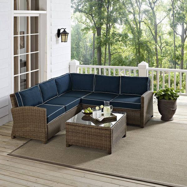 Found it at Wayfair - Middlesex 4 Piece Deep Seating Group with Cushions