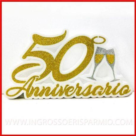 Anniversario Matrimonio Oro.Polistirolo Decorato Per Festa Anniversario Nozze D Oro 50 Nozze