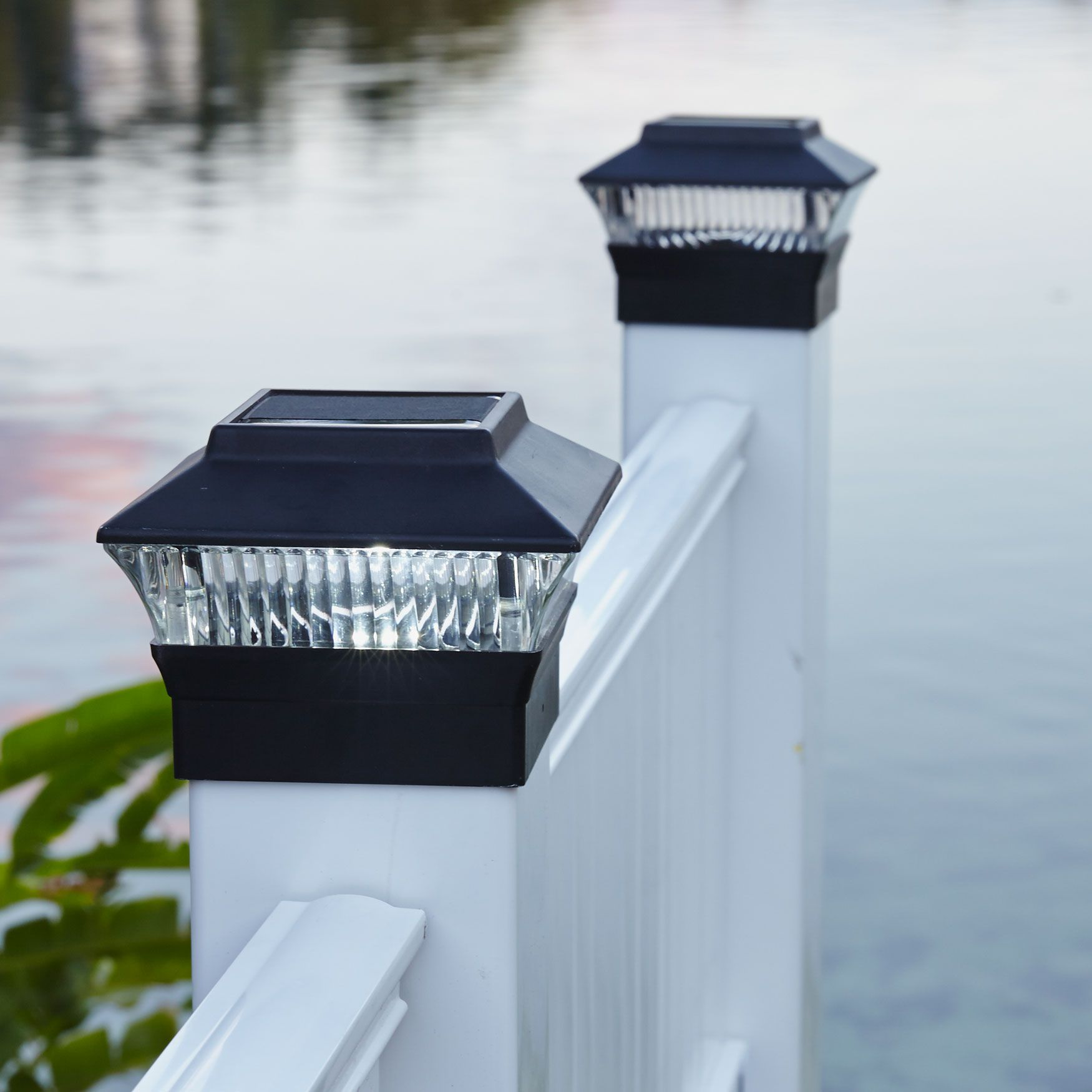 Solar Fence Post Light, BLACK (With images) Post lights