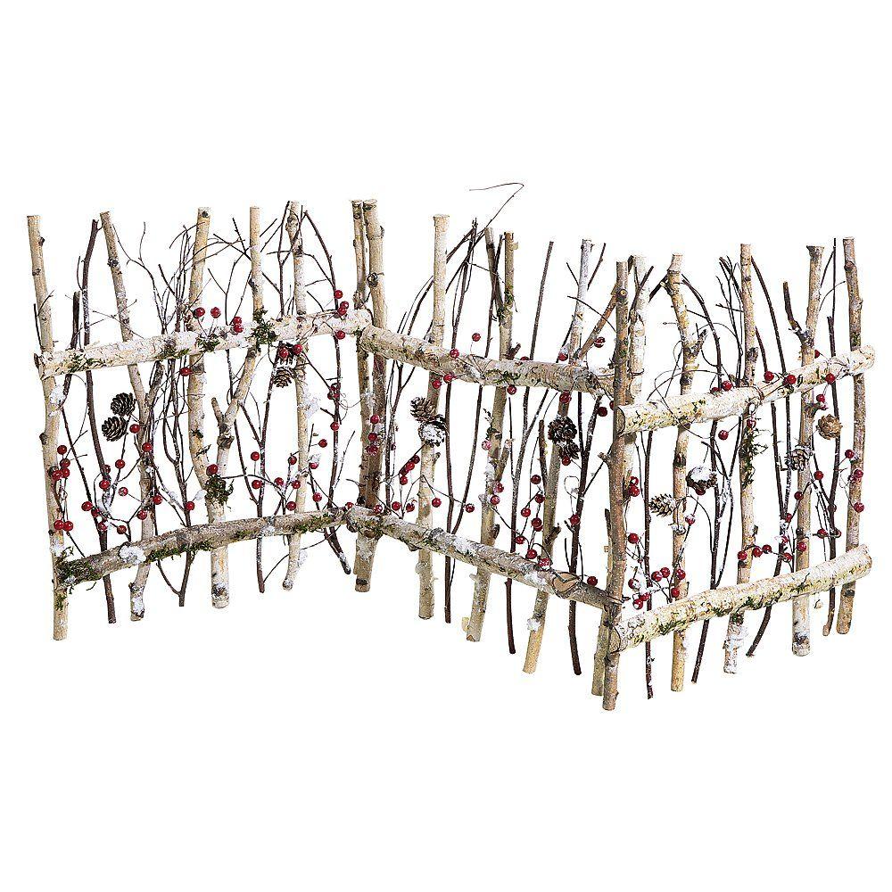Faire Une Palissade Avec Des Branches clôture en branches de bouleau   objet décoration