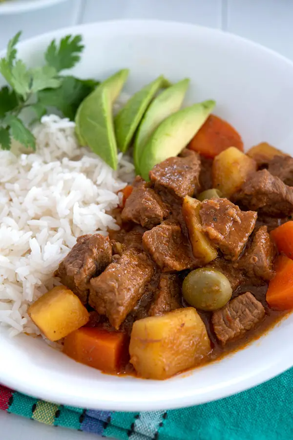 The best Puerto Rican Carne Guisada with stew meat, potatoes