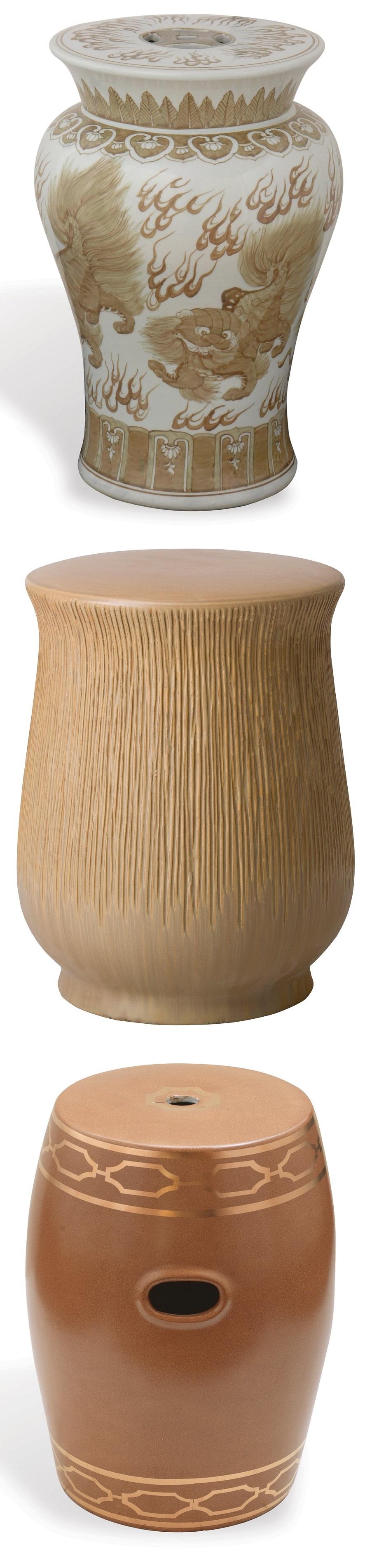 Brown Garden Stool | Brown Ceramic Stools | Brown Porcelain Stool ...